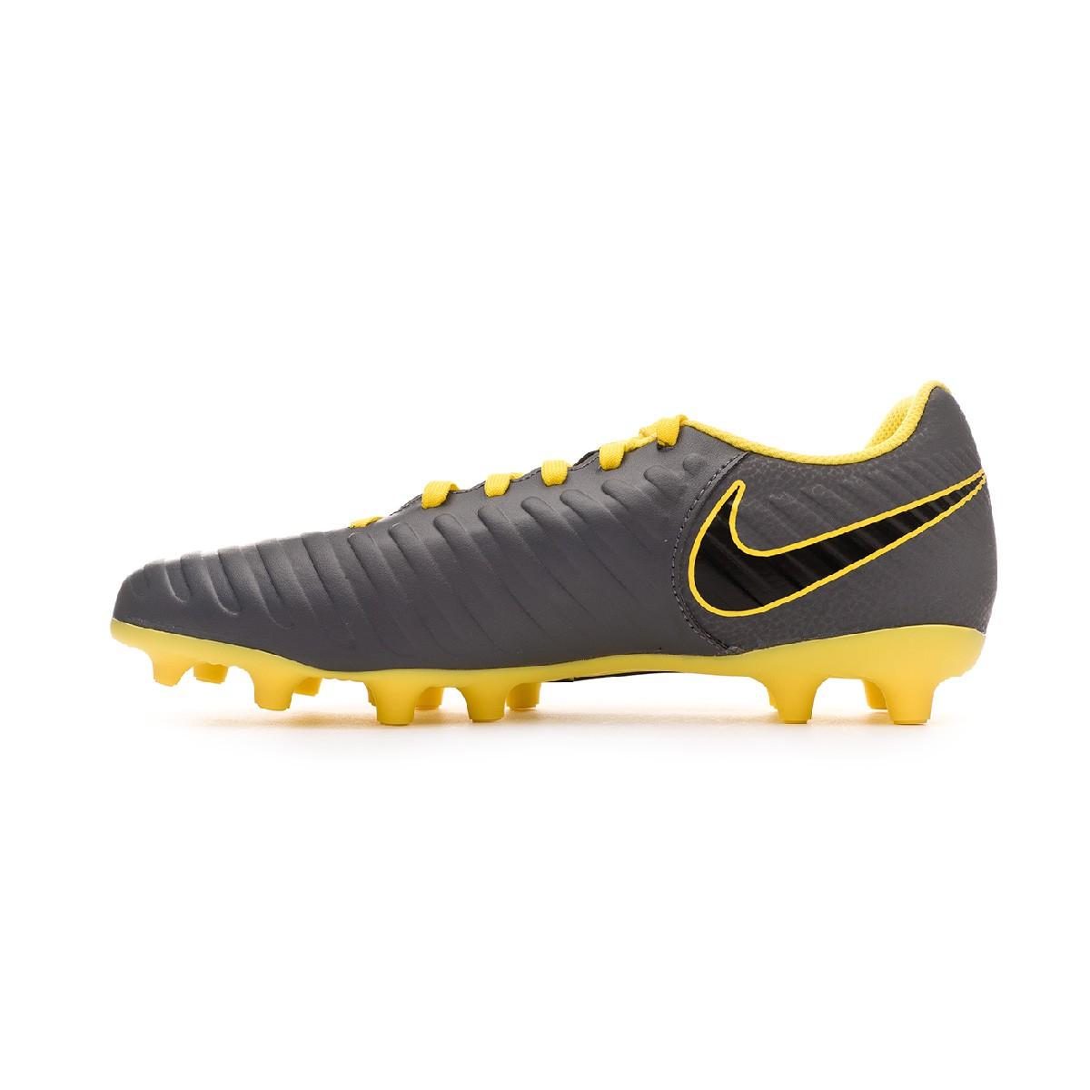 Nike Tiempo Legend Elite FG Cleats Dark Grey Yellow