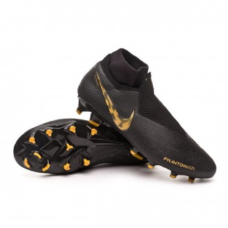 Chaussure de foot  Nike Phantom Vision Elite DF FG Black-Metallic vivid gold