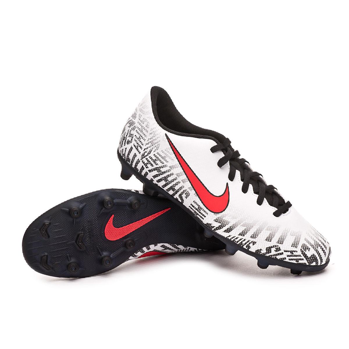 1d1d0014cbf10 Zapatos de fútbol Nike Mercurial Vapor XII Club Neymar Jr MG  White-Challenge red-Black - Tienda de fútbol Fútbol Emotion