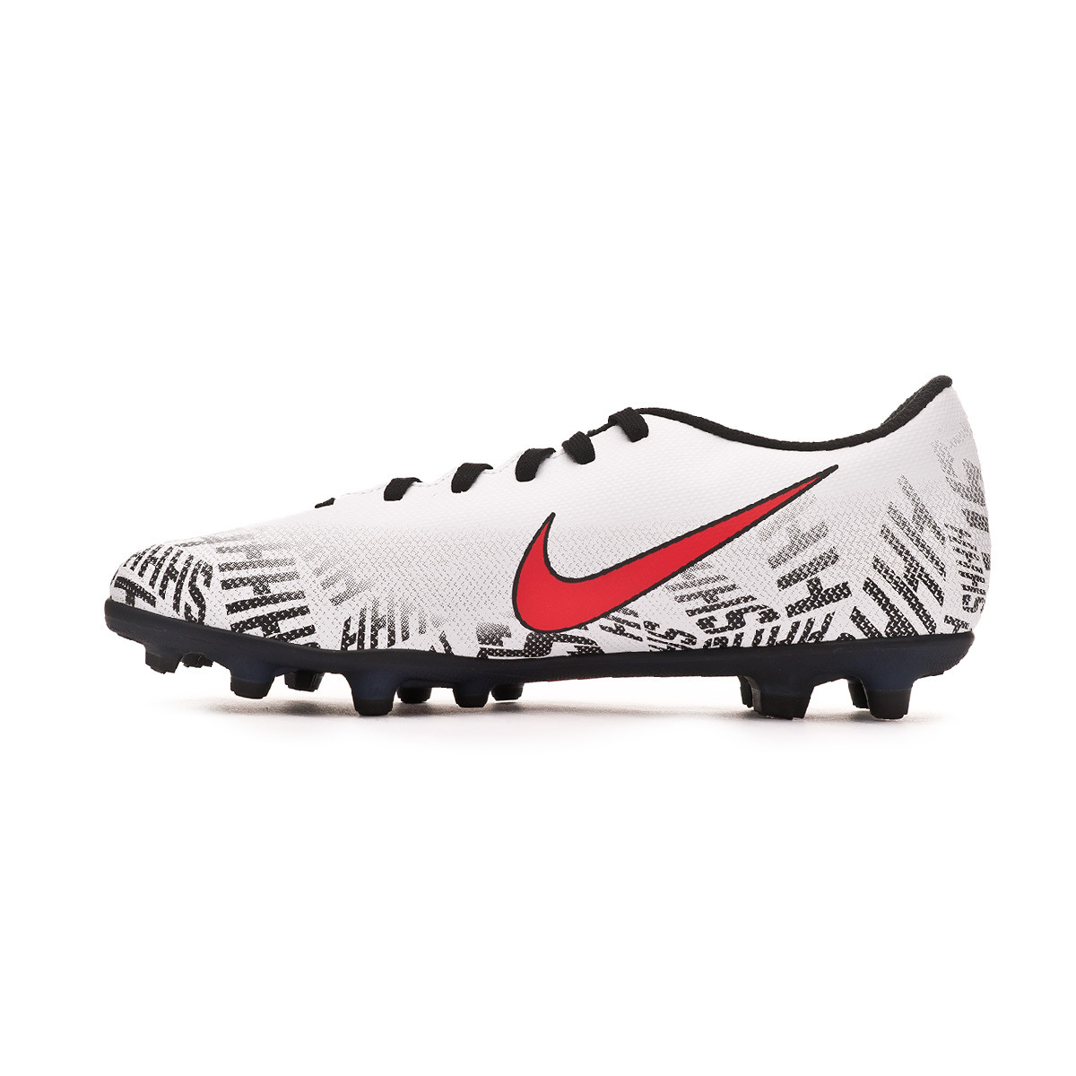 baed0e6be Football Boots Nike Mercurial Vapor XII Club Neymar Jr MG White-Challenge  red-Black - Football store Fútbol Emotion