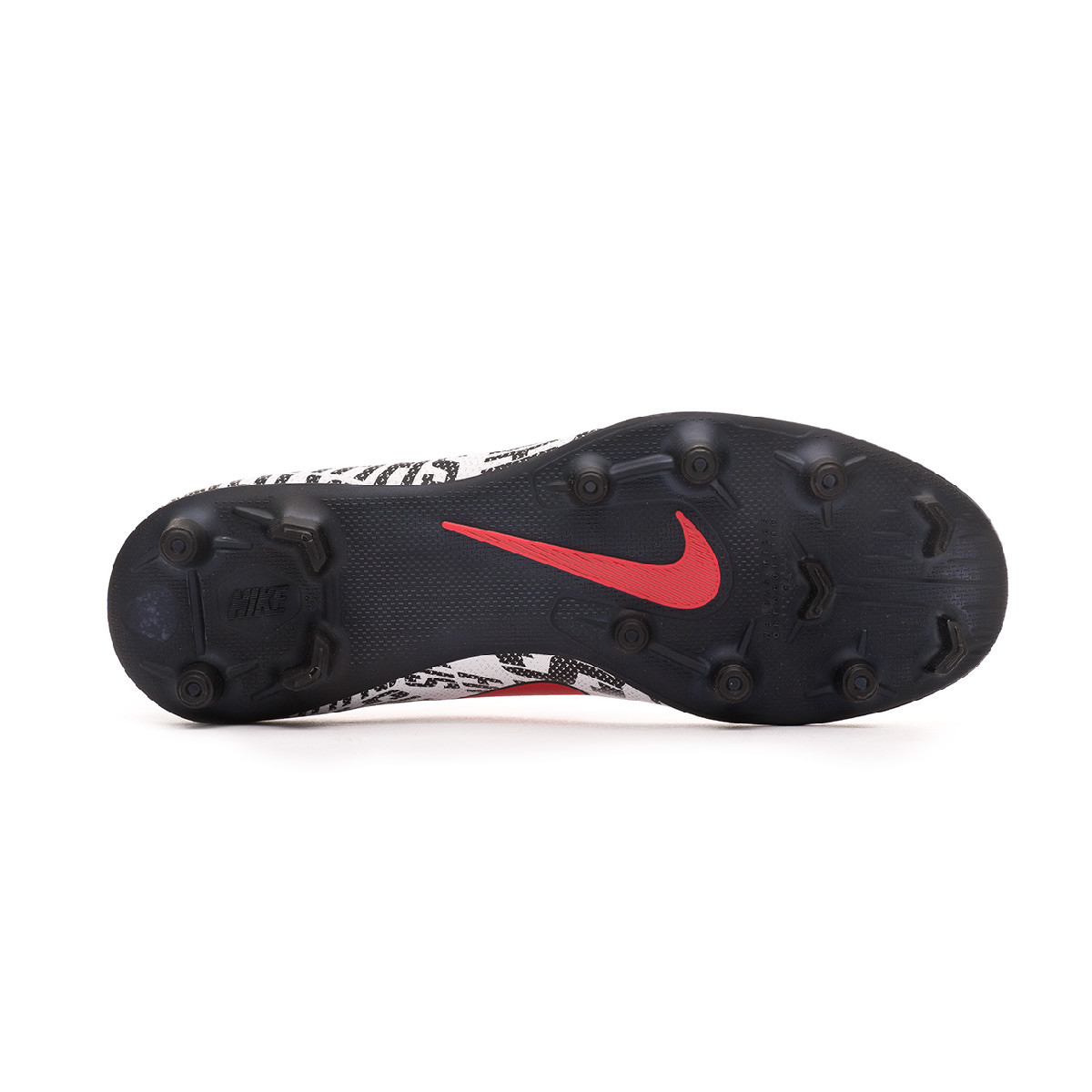 c9557af10fa Zapatos de fútbol Nike Mercurial Vapor XII Club Neymar Jr MG  White-Challenge red-Black - Tienda de fútbol Fútbol Emotion