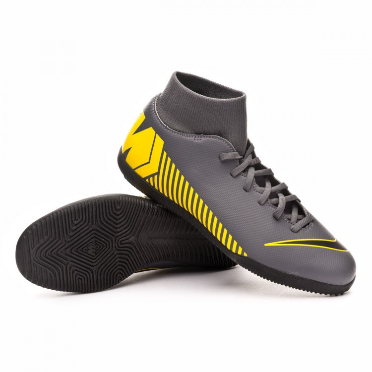 6e7cdce7d74 Futsal Boot Nike Mercurial SuperflyX VI Club IC Dark grey-Black ...