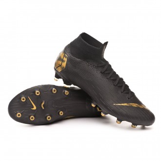 Chaussure de foot  Nike Mercurial Superfly VI Elite AG-Pro Black-Metallic vivid gold