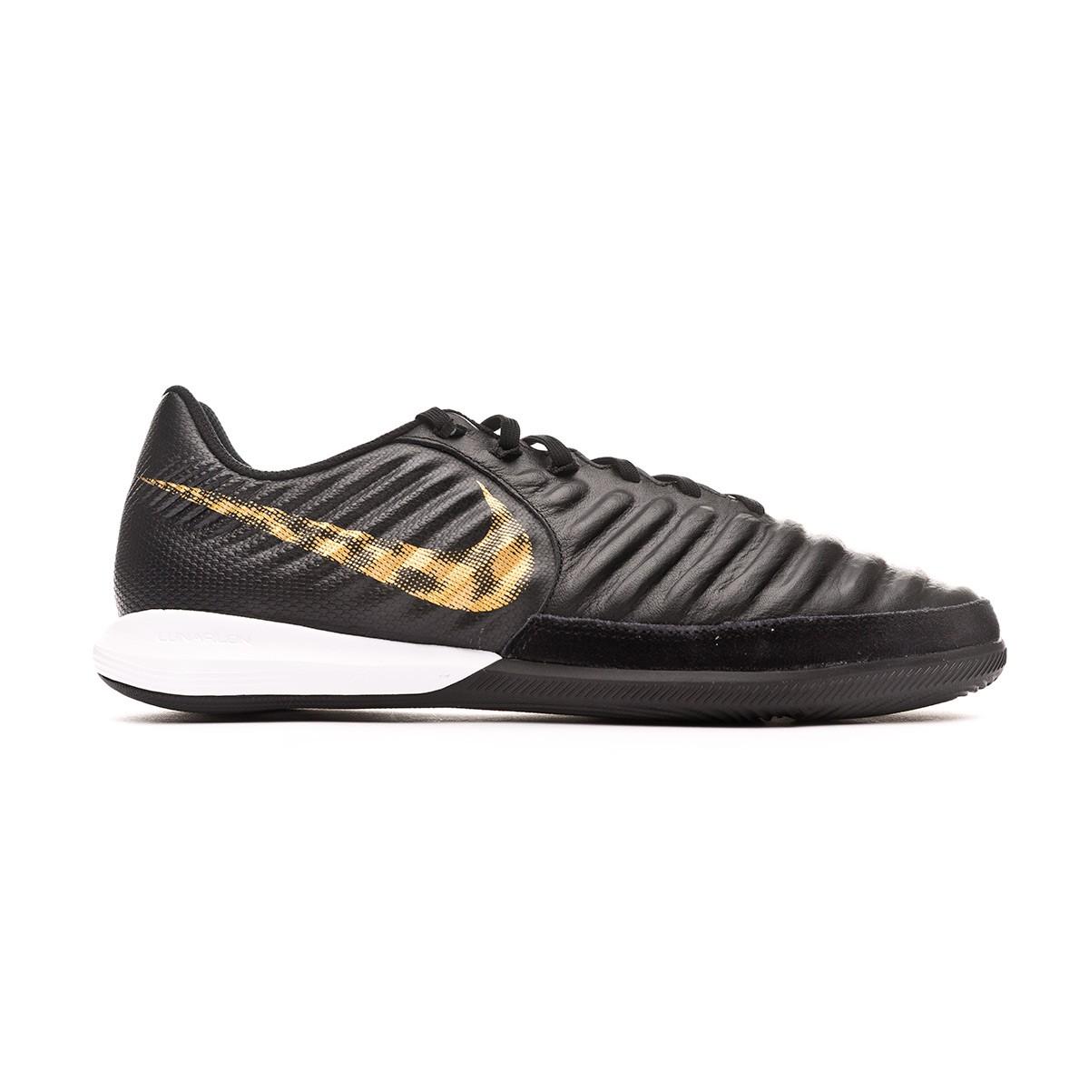 Scarpe Nike Tiempo LegendX VII Pro IC Black-Metallic vivid gold - Negozio di  calcio Fútbol Emotion 7ec0d492009