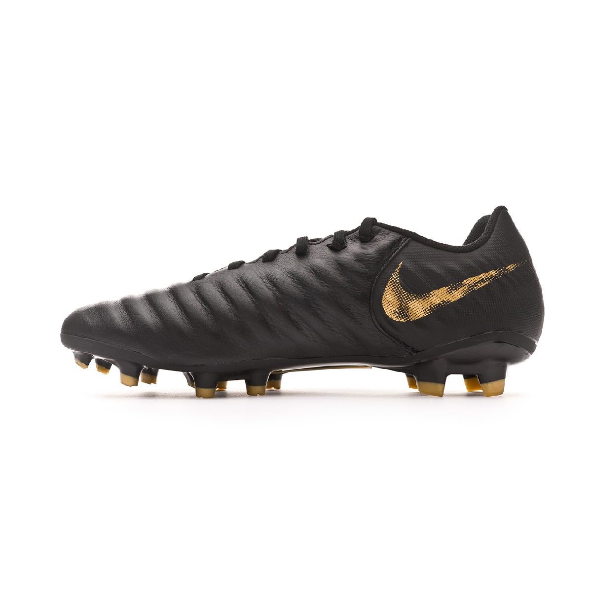 90bf3e0003065 Zapatos de fútbol Nike Tiempo Legend VII Academy FG Black-Metallic vivid  gold - Tienda de fútbol Fútbol Emotion