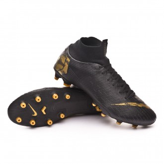 Boot  Nike Mercurial Superfly VI Pro AG-Pro Black-Metallic vivid gold
