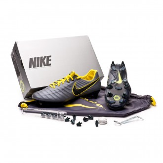 Football Boots  Nike Tiempo Legend VII Elite Anti-Clog SG-Pro Dark grey-Optical yellow-Black