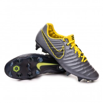 Chuteira Nike Tiempo Legend VII Elite Anti-Clog SG-Pro Dark grey-Optical yellow-Black