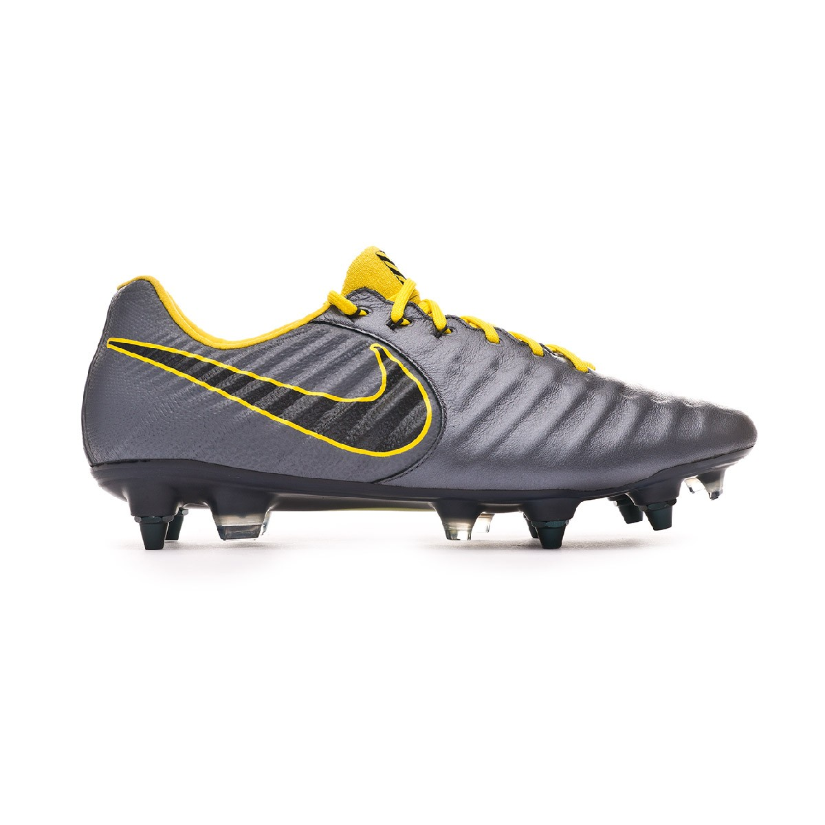 8553fc1e4 Football Boots Nike Tiempo Legend VII Elite Anti-Clog SG-Pro Dark grey-Optical  yellow-Black - Football store Fútbol Emotion