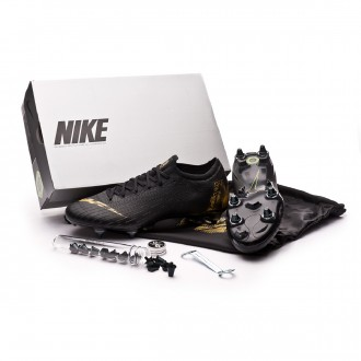 Chaussure de foot  Nike Mercurial Vapor XII Elite Anti-Clog SG-Pro Black-Metallic vivid gold