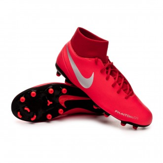 Bota  Nike Phantom Vision Club DF FG/MG Bright crimson-Metallic silver