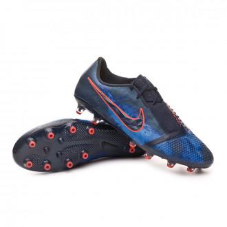 Chaussure de foot  Nike Phantom Venom Elite AG-Pro Obsidian-White-Black-Racer blue