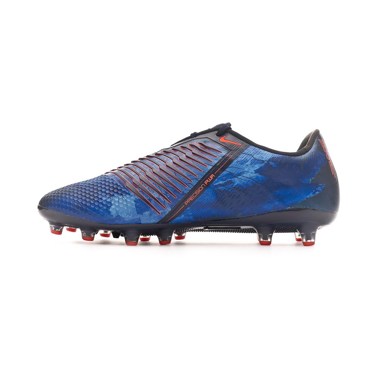 b4f295ad3c7 Football Boots Nike Phantom Venom Elite AG-Pro Obsidian-White-Black-Racer  blue - Football store Fútbol Emotion