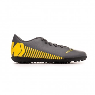 Football Boot  Nike Mercurial VaporX XII Club Turf Dark grey-Black-Optical yellow