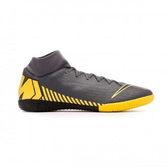 Zapatilla  Nike Mercurial SuperflyX VI Academy IC Dark grey-Black-Optical yellow