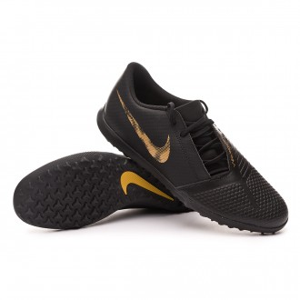 Tenis  Nike Phantom Venom Club Turf Black-Metallic vivid gold
