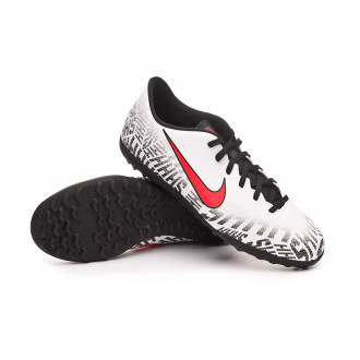 Sapatilhas  Nike Mercurial VaporX XII Club Turf White-Challenge red-Black