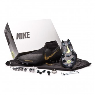 Chaussure de foot  Nike Phantom Vision Elite DF SG-Pro ACC Black-Metallic vivid gold