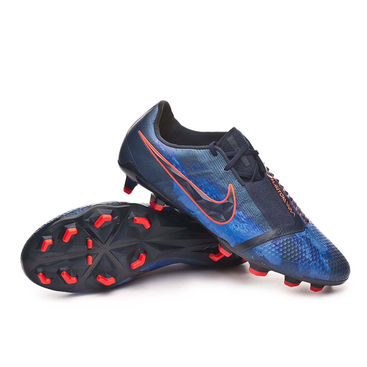 new arrival 51083 98c00 Bota Phantom Venom Elite FG Obsidian-White-Black-Racer blue