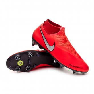 Chaussure de foot  Nike Phantom Vision Academy DF SG-Pro ACC Bright crimson-Metallic silver