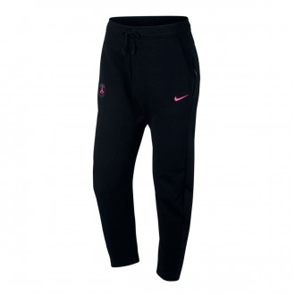 Long pants   Nike Paris Saint-Germain NSW Tech Fleece 2018-2019 PANT AUT Black-Hyper pink