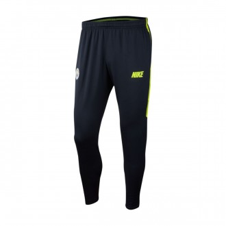 Long pants   Nike Dry Manchester City FC Squad 2018-2019 Dark obsidian-Volt