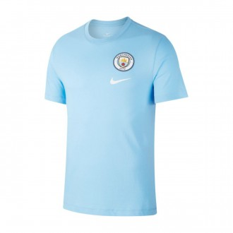 Camiseta  Nike Manchester City FC Evergreen Crest 2018-2019 Field blue