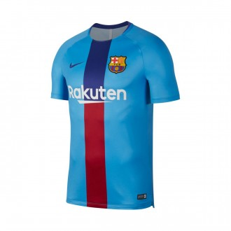 Camisola  Nike Dry FC Barcelona Squad 2018-2019 Equator blue-Deep royal blue