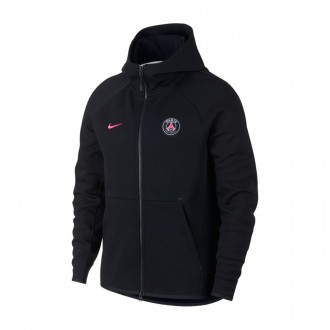 Casaco  Nike Paris Saint-Germain NSW Tech Flecce 2018-2019 Black-Hyper pink