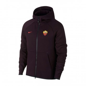 Chaqueta  Nike NSW AS Roma Tech Fleece 2018-2019 Burgundy ash-Habanero red