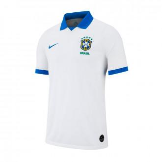 aece1ae26192c Camiseta Nike Brasil Stadium SS Segunda Equipación Copa America 2018-2019  White-Soar