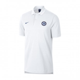 Polo  Nike Chelsea FC 2018-2019 White-Rush blue