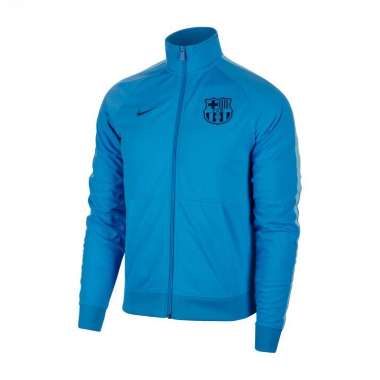 Jacket Nike FC Barcelona 2018-2019 Equator blue-Vivil sky-Coastal ... 8880ef44b