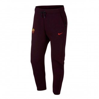 Pantalón largo Nike NSW AS Roma Tech Fleece 2018-2019 Burgundy ash-Habanero  red 1911d5486904d
