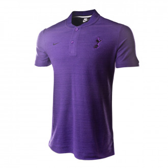 Polo shirt  Nike Tottenham Hotspur FC 2018-2019 Action grape-Hyper grape-Black
