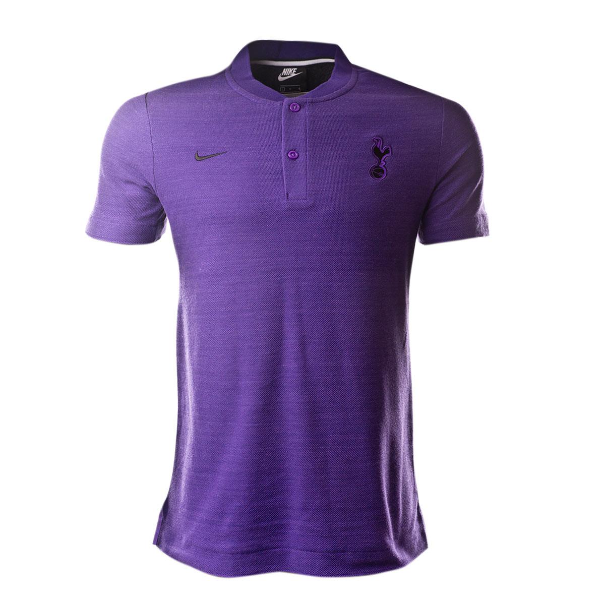 Polo Shirt Nike Tottenham Hotspur Fc 2018 2019 Action Grape Hyper Grape Black Football Store Futbol Emotion