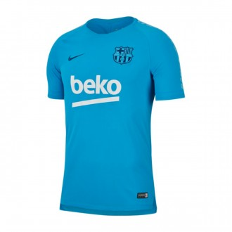Maillot  Nike FC Barcelona Squad 2018-2019 Equator blue-Coastal blue