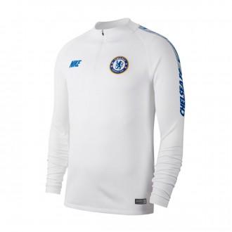 Sweat  Nike Dry Chelsea FC Squad 2018-2019 White-Rush blue