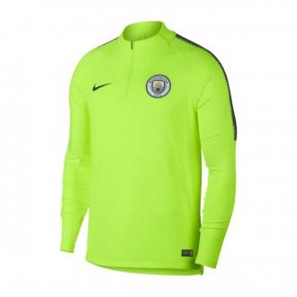 Sweatshirt  Nike Dry Manchester City FC Squad 2018-2019 Volt-Dark obsidian