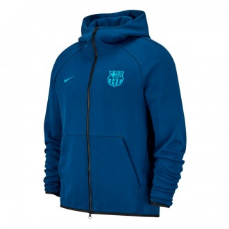 Veste  Nike FC Barcelone NSW Tech Fleece 2018-2019 Coastal blue-Equator blue
