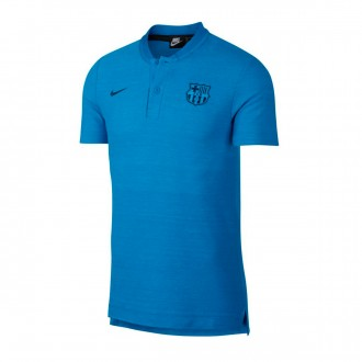Polo shirt  Nike FC Barcelona 2018-2019 Equator blue-Coastal blue