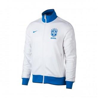 Chamarra  Nike Brasil NSW N98 Copa 2018-2019 White-Signal blue