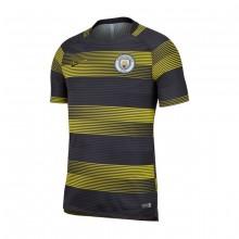 Camiseta Manchester City FC Dry Squad TOP SS GX 2 2018-2019 Optical yellow-Black