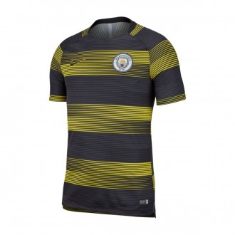 Camiseta  Nike Manchester City FC Dry Squad TOP SS GX 2 2018-2019 Optical yellow-Black
