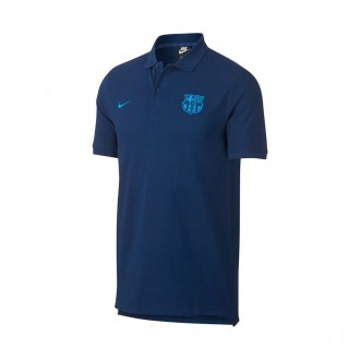 Polo shirt  Nike FC Barcelona 2018-2019 Coastal blue-Equator blue