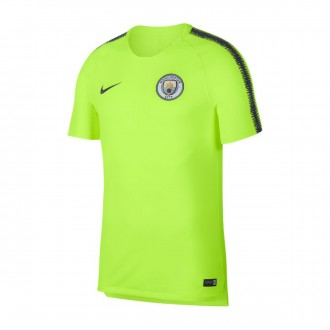 Camisola  Nike Manchester City FC Squad 2018-2019 Volt-Dark obsidian
