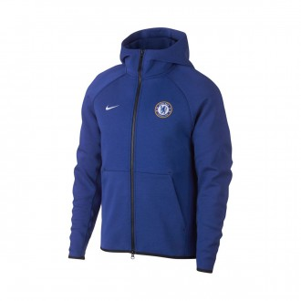 Casaco  Nike NSW Chelsea FC Tech Fleece 2018-2019 Rush blue-White