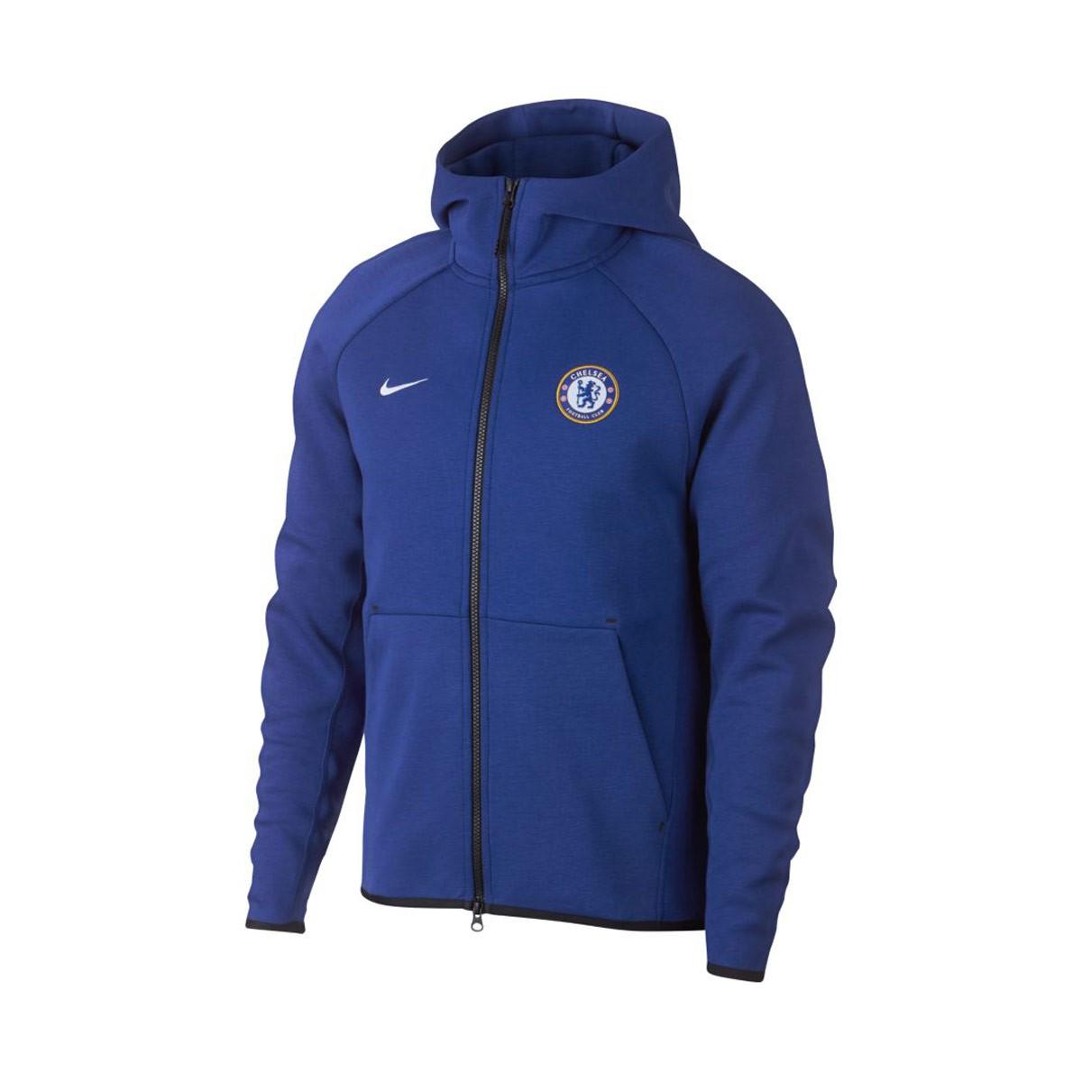 a9fb38ac0f2a Jacket Nike NSW Chelsea FC Tech Fleece 2018-2019 Rush blue-White ...