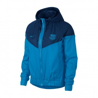 Jacket  Nike Nike Sportswear FC Barcelona Windrunner 2018-2019 Mujer Equator blue-Coastal blue