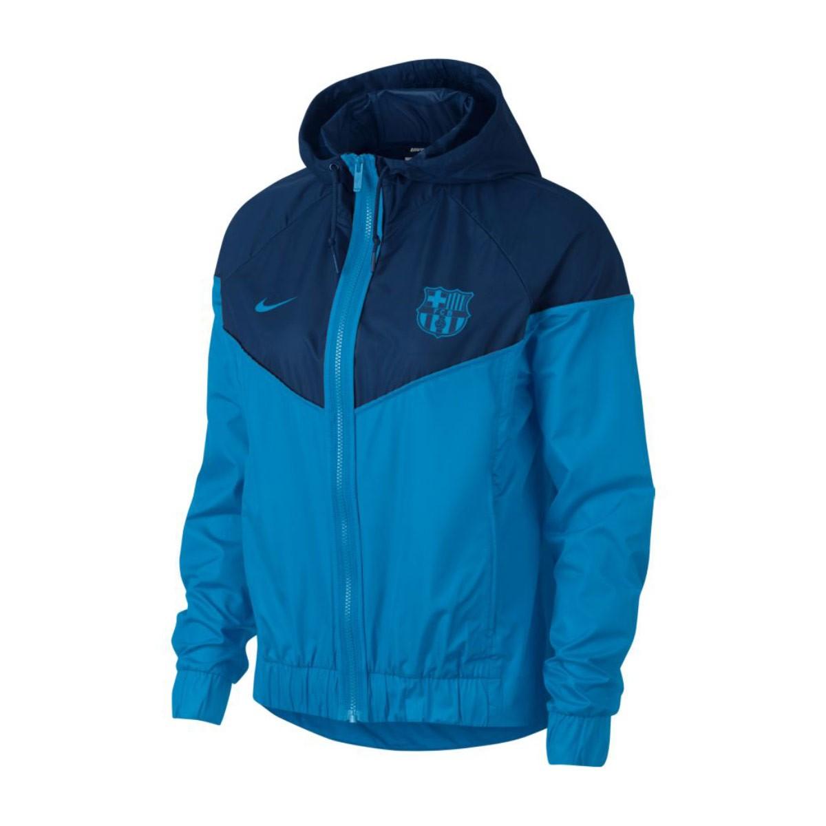 Nike Nike Sportswear FC Barcelona Windrunner 2018-2019 Mujer Jacket. Equator  blue-Coastal ... 17a6a2ae5